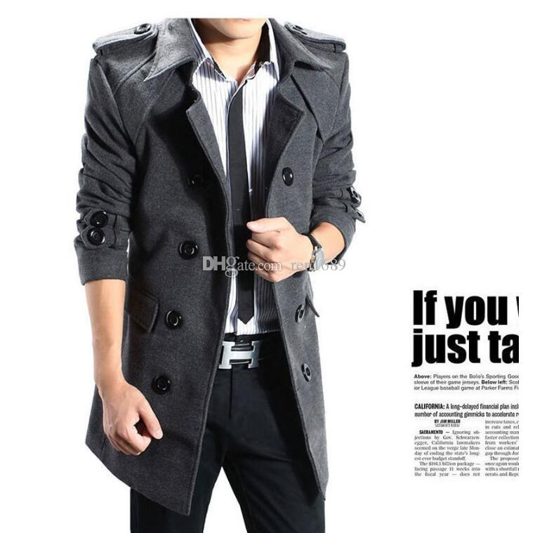New fine Autumn/winter men's style woolen cloth business casual dress for men's clothing foreign trade MAO jacket men's coat