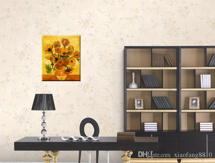 Pure handmade Oil Painting on Canvas Van Gogh Sunflowers Paintings Modern Home sitting room corridor Decor Art Wall PictureSize:30cmx40cm