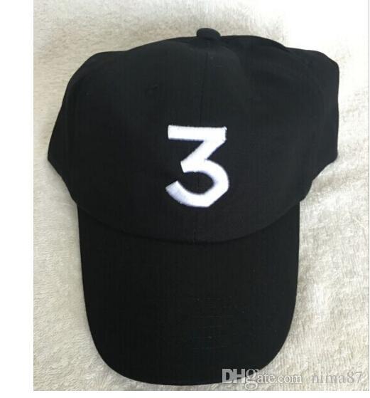 785883b8f9950 New Embroidered Chance the Rapper 3 Hat Black Baseball Cap Fashion ...