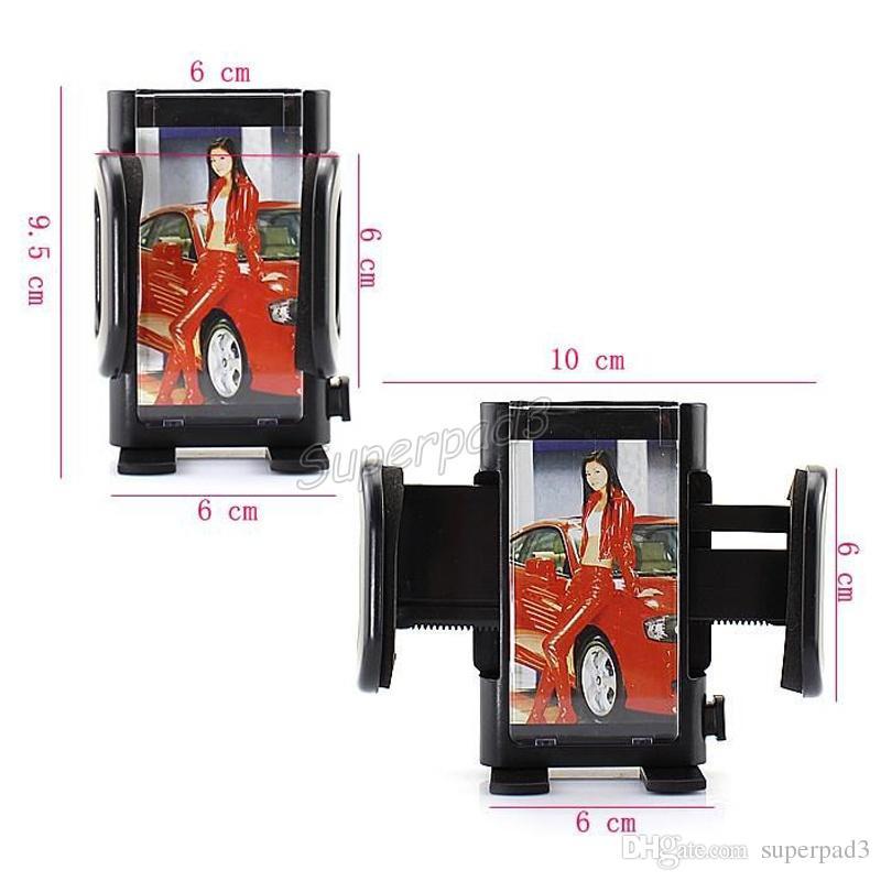 سيارة الزجاج الأمامي زجاج كليب جبل حامل حامل للهاتف المحمول GPS PDA MP4 العملي 360 درجة الدورية حامل قوس قابل للتعديل سيارة مهد