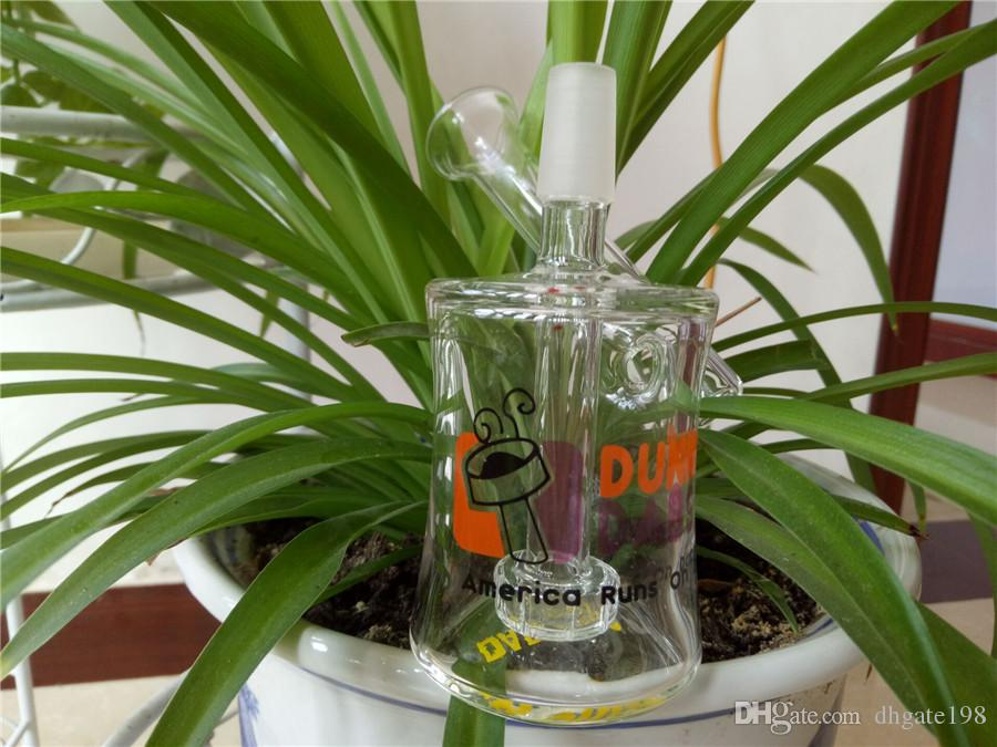 Dunkin Dabs Glasbong Glaspfeifen Raucherbongs Mini-Ölplattformen Glas Bubbler Inline Percolator Water Pipe