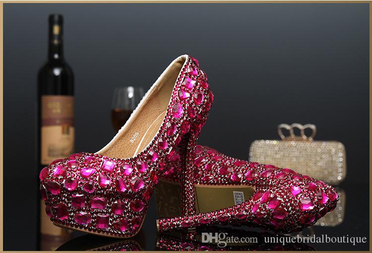2016 Hot Sale Homecoming Shoes for Girls High Heels 14cm 12cm 10cm 8cm 3cm Platforms Bling Bling Crystals Wedding Shoes for Brides
