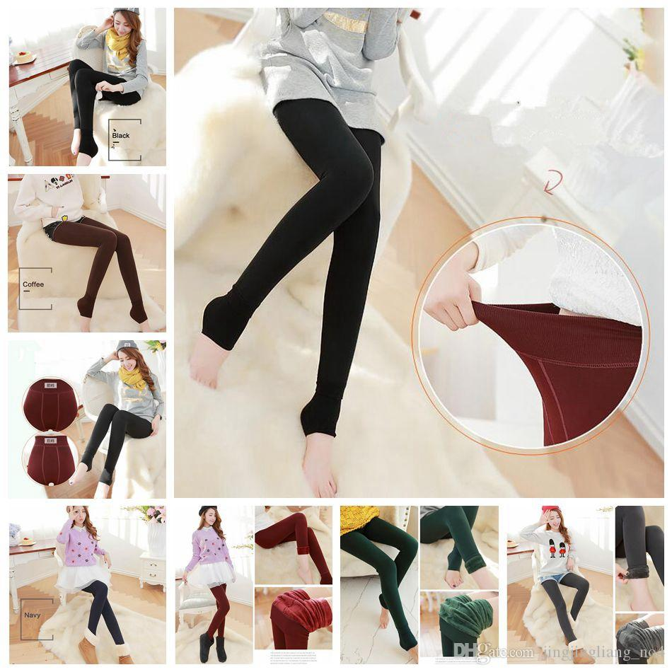 d6255807e6bd8 2019 Women Thick Velvet Legging Winter Autumn Warm Thick High Waist Elastic  Trousers Pants Slim Skinny Pants OOA3820 From Jingjingliang_no4, $4.03 |  DHgate.