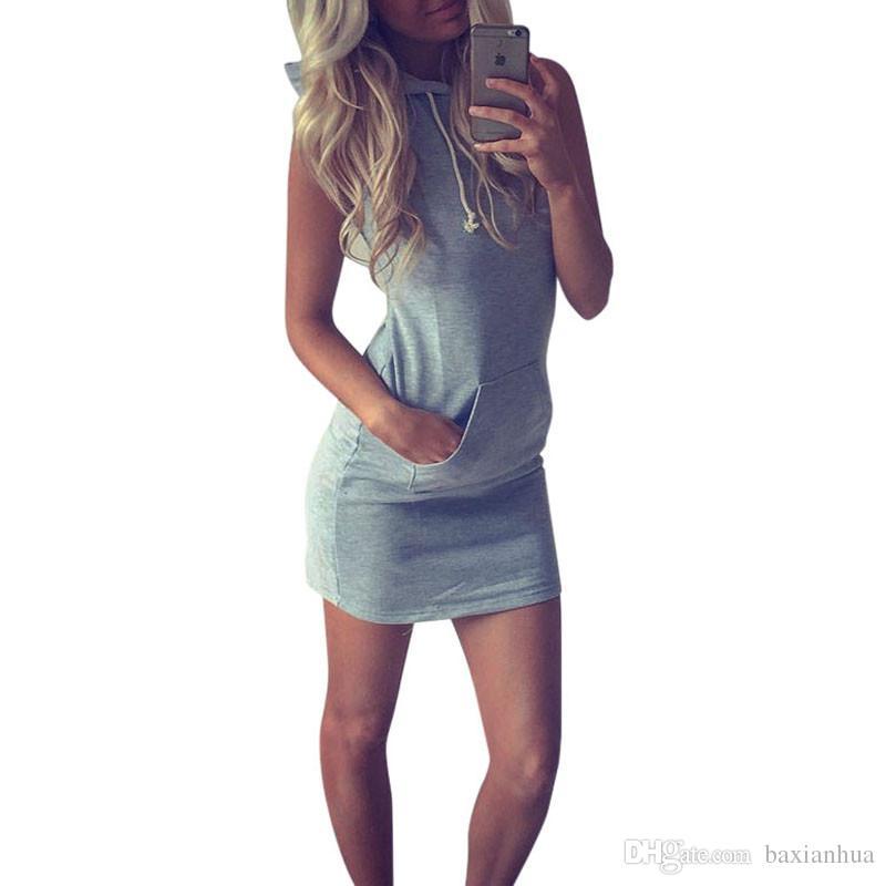 50637a1db8b ... Hot 2016 Summer Women Ladies Sport Shirt Hooded Dress Sundress robe  Vintage Sexy Slim Bodycon Party