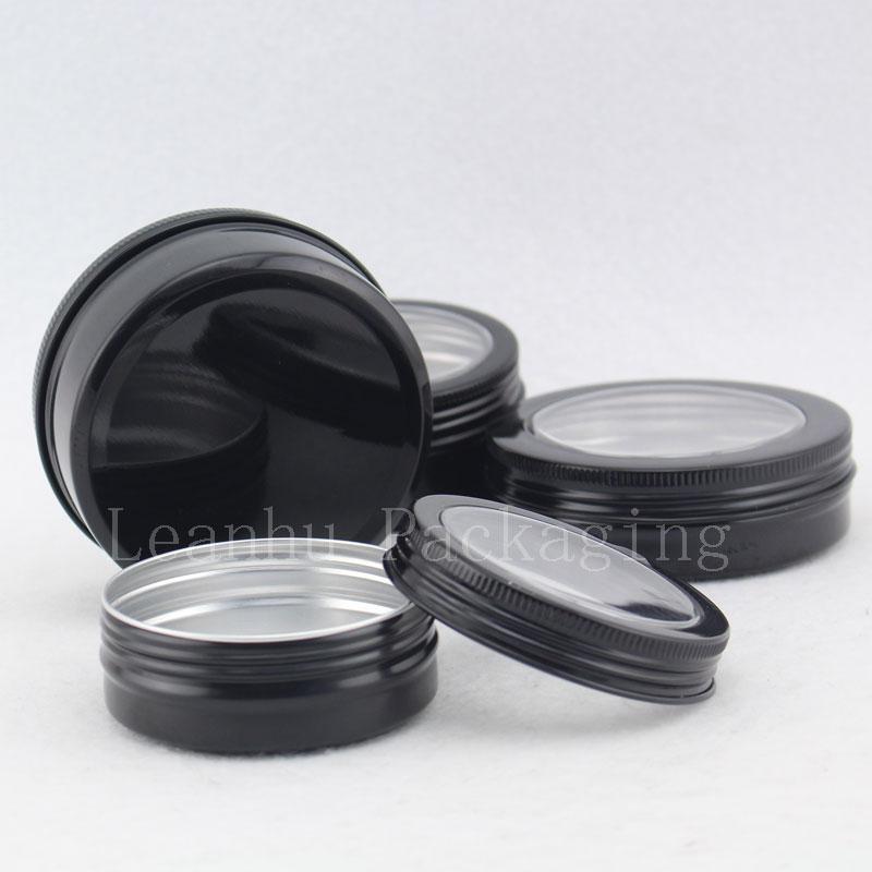 60g 80g 100g 150g black aluminum jar with window (3)