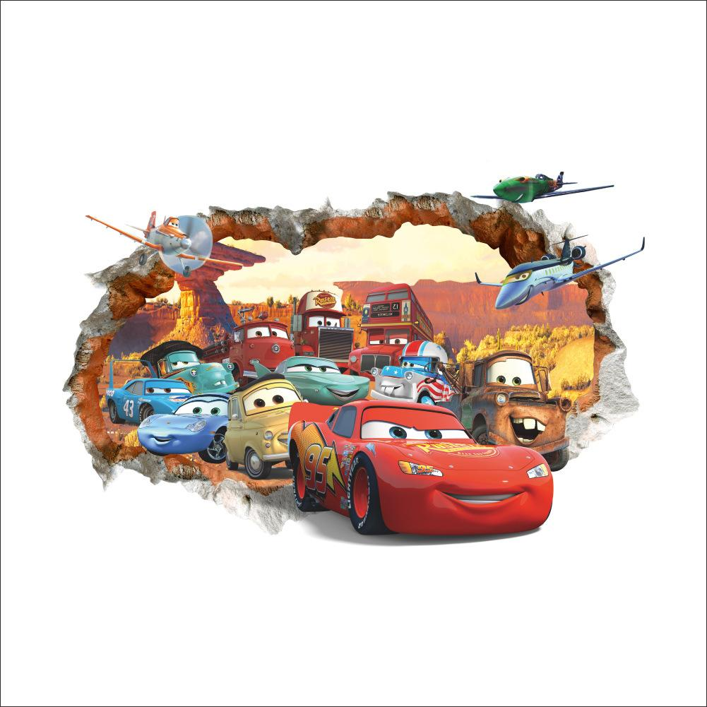 Captivating Cars Lightning Mcqueen 3d Pvc Removable Broken Wall Stickers For Kids  Children Boys Room Home Decoration Poster Sticker Art Wall Decals Art Wall  Sticker ... Part 30