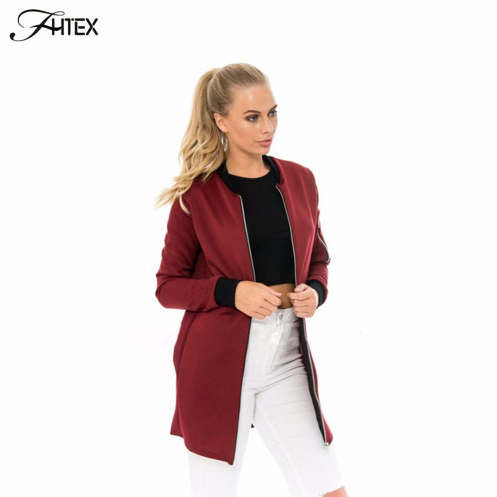 7690a4f3ab X201710 Brief Medium Long Autumn Basic Bomber Jacket Women Color Block  Casual Slim Pilot Jacket Outerwear Basic Coats High Quality Jacket Varsi  China Coat ...