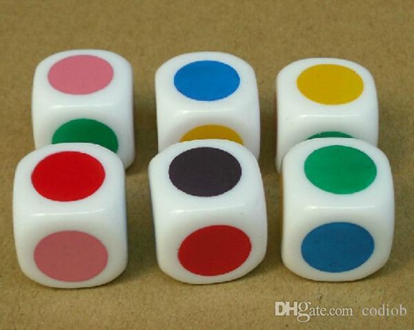 Colore DCiE 6 Sided Dices Bosoni Schermata Dadi 16 millimetri colorato Special Purpose Boson Teaching Assistant piccolo regalo Gioco buon prezzo # S3