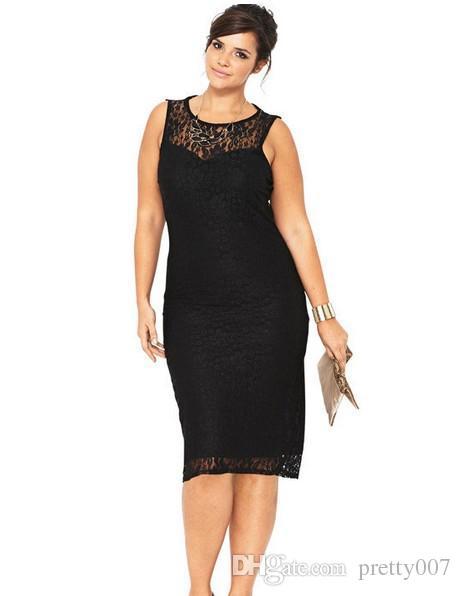 Plus Size Bodycon Dresses Lace Panelled Casual Dresses 2xl 8xl Knee