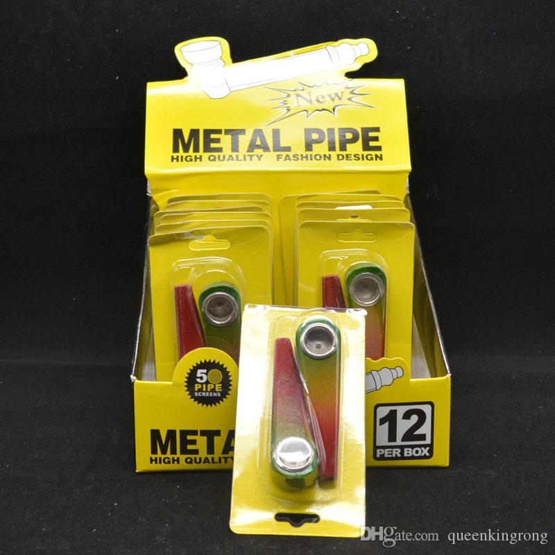 Tres tubos de tubería de madera de color tabaco para cigarrillos Pipa de madera Fumar parte de filtro también ofrecen pipas de agua de cristal del metal molinillo de uñas