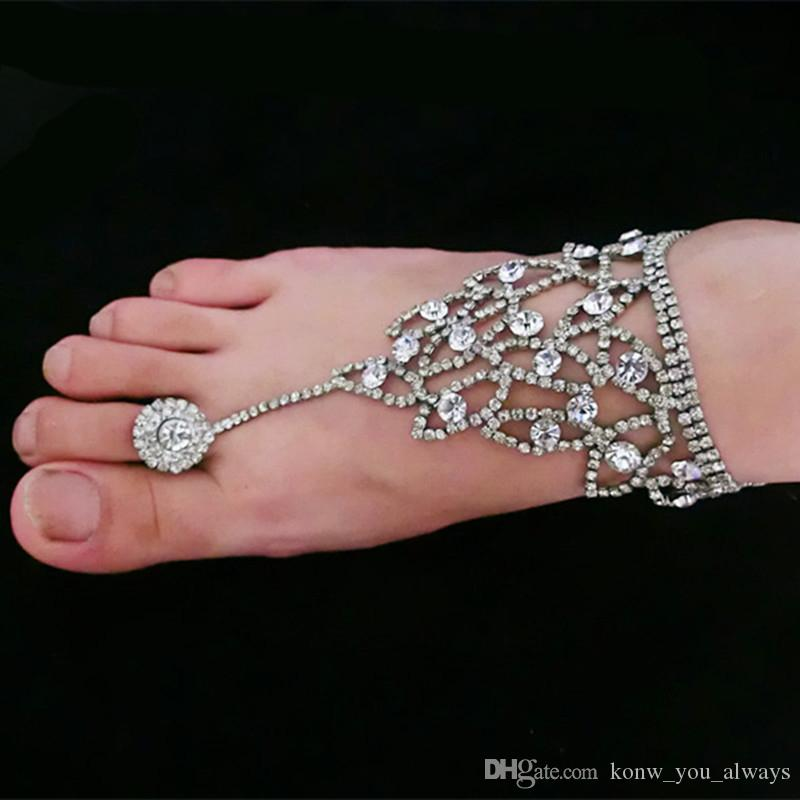 Fashion Barefoot Sandals Bridal Beach Foot Jewellery Anklet Chain Ankle Bracelet