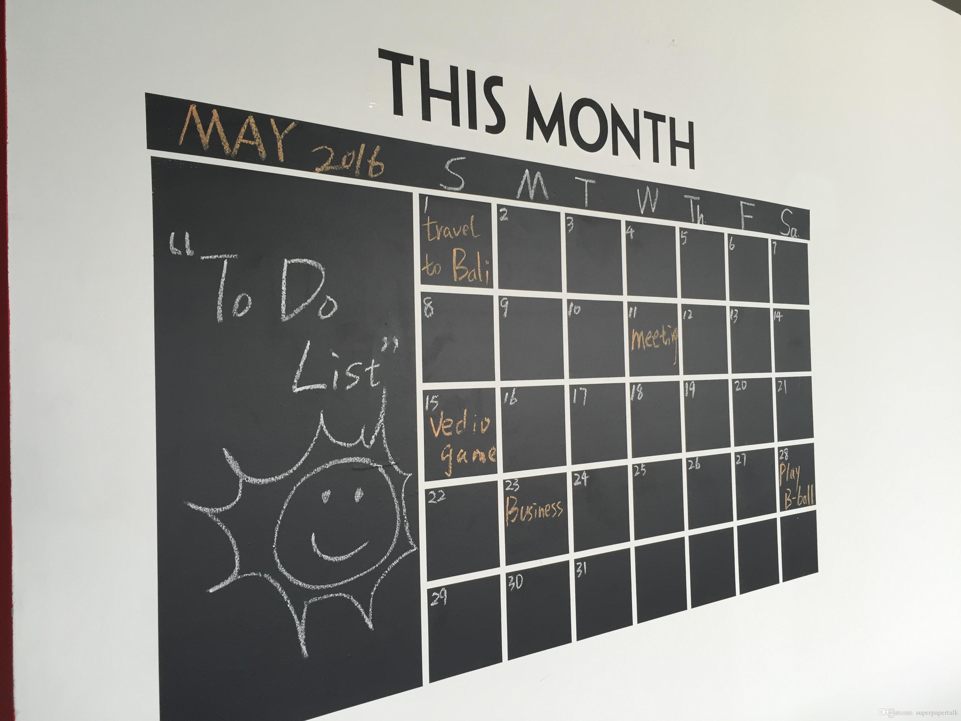 2017 wall calendar blackboard monthly schedule planner 60 100cm see larger image