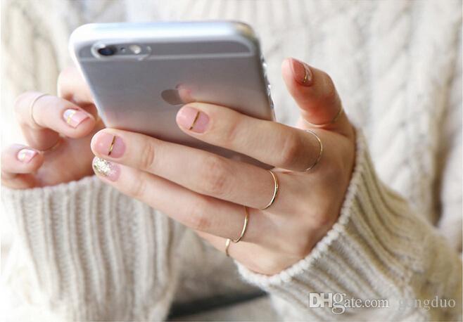 Feminino 1.2 Anéis de Linha Coreana Versão S925 Sterling Silver Simples Suave Simples Linhas Finas Anel de Presente Da Forma Das Mulheres