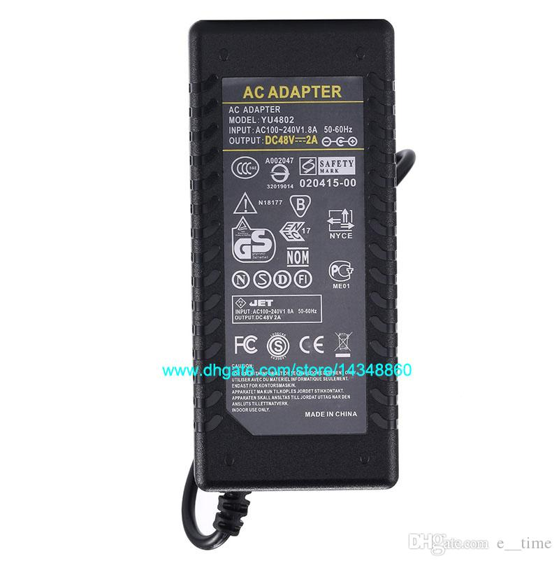 AC 100-240V Adaptor To DC Power Adapter 48V 2A Supply 96W For 5050 3528 LED Light Monitor DHL With IC Chip