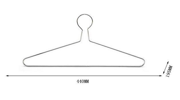 Forme la suspensión de ropa antirrobo caliente del metal con el gancho de seguridad para el hotel utilizó el grueso de 5m m