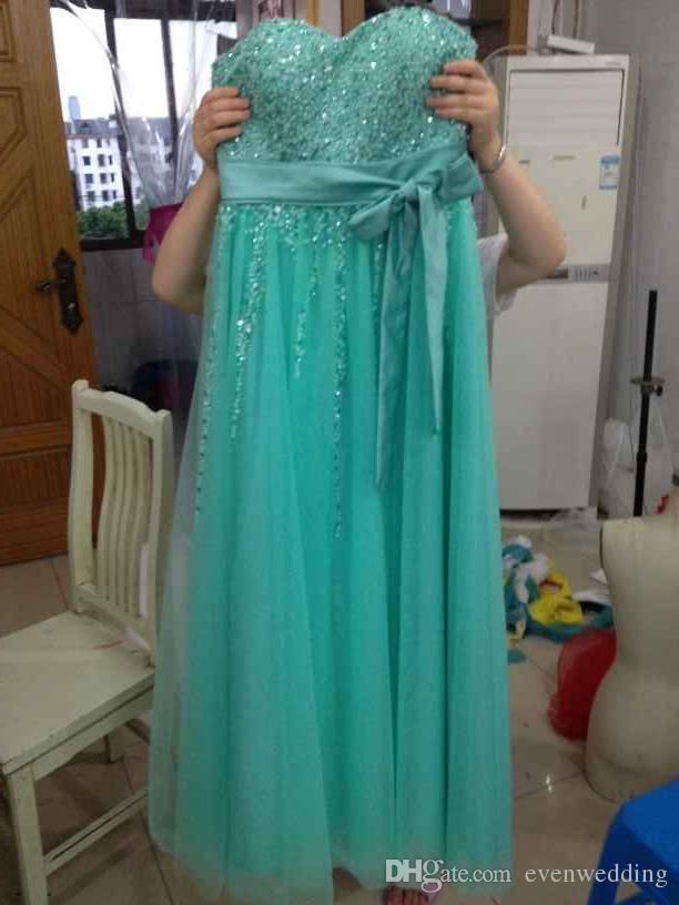 Sexy Sweetheart perline di cristallo lungo Prom Dress 2017 Lace Up Prom Gown Piano Lunghezza abiti del partito foto reale