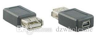 Wholesale Mini USB 5Pin Female To USB A Type 2.0 Female Connector Extension Adapter
