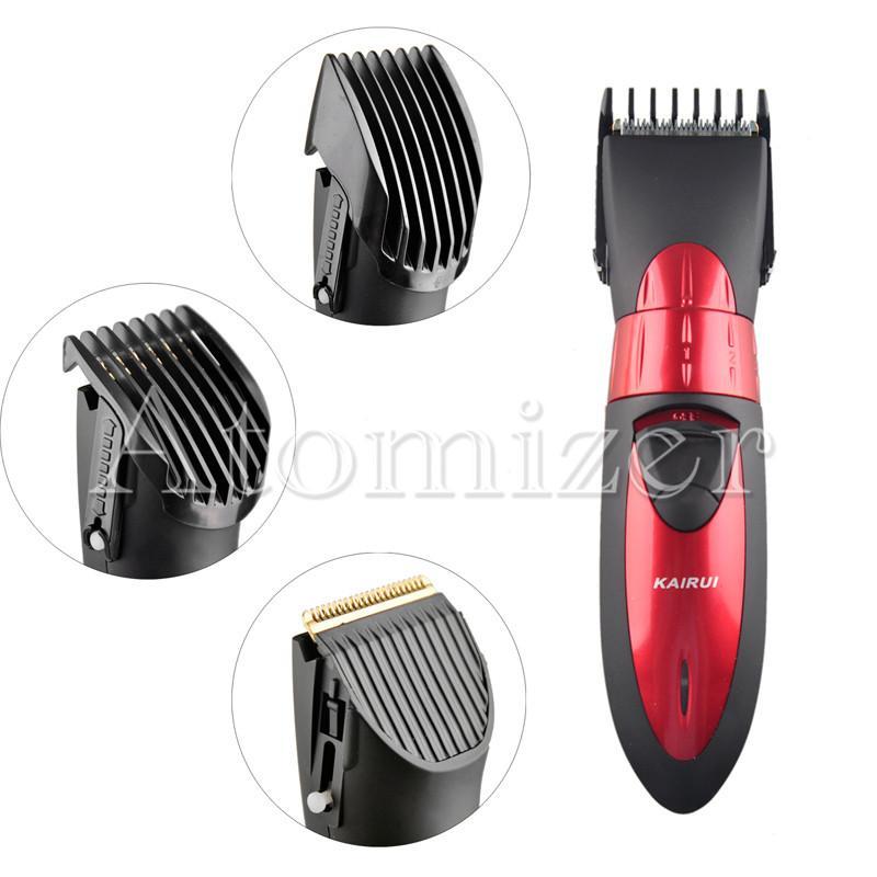 KAIRUI Waterproof Electric Rechargeable Hair Cipper Electric Shaving Machine Razor Barber Cutting Beard Trimmer Haircut Set UE PLUG