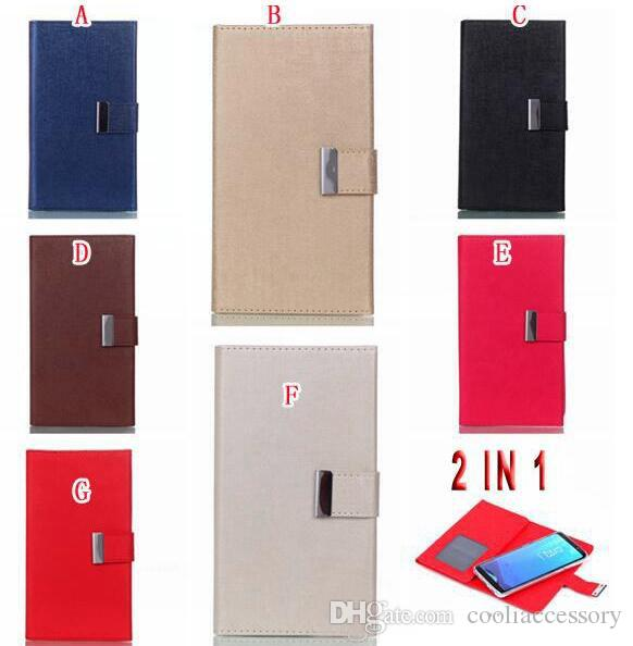 For Samsung Galaxy Note 8 Iphone X Huawei P9 PLUS Multifunction Wallet Leather Pouch Case Fold Purse TPU Card Detachable Magnetic Skin Cover