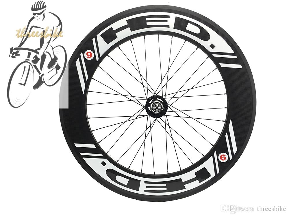 HED 70mm Tri Spoke and 88mm Carbon Fibre Road /Fixed Gear Bike Wheels Clincher/Tubualr Front&Rear Bicycles Wheel
