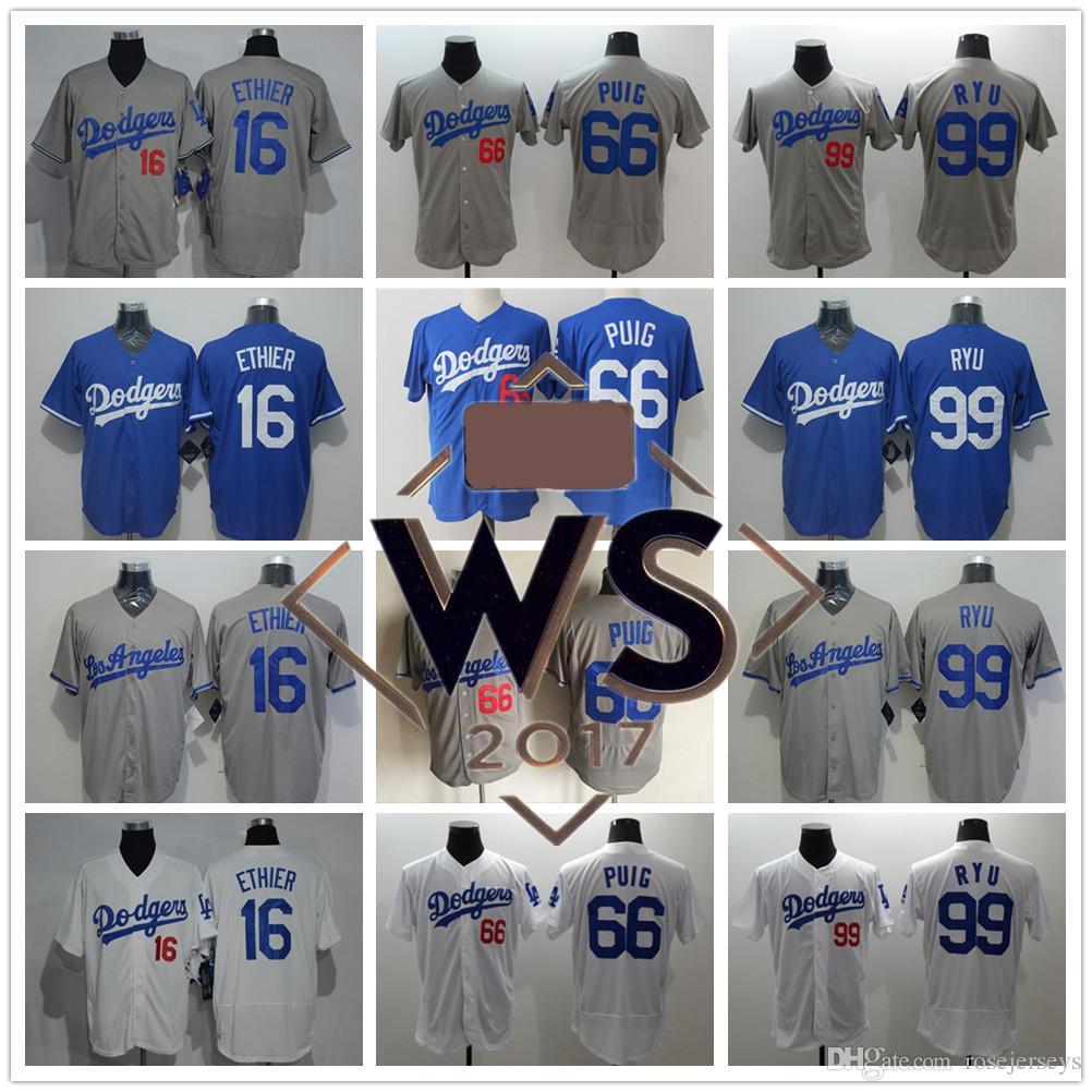 69b7e0440 Blue Alternate Womens Stitched MLB Jersey. httpwww.xjersey.com dodgers Los  Angeles Dodgers 66 Yasiel Puig 99 Hyun-jin Ryu 16 Andre Ethier LA Gray . ...