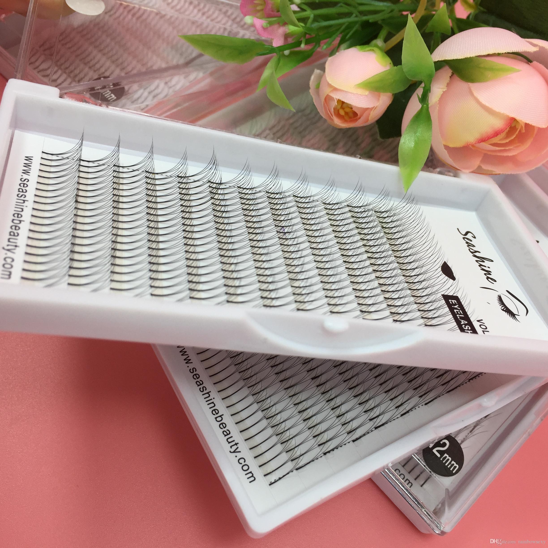 12Llines/tray Top quality 0.07/0.10mm C D curl 3D volume fans lash 2trays individual eyelash false eyelash extension handmade