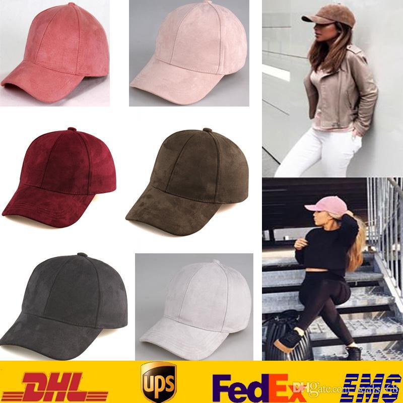 74277a6ab32 Women Men Baseball Caps Hats Hip Hop Snapback Flat Hats Fashion Suede Candy  Color Visor Sun Basketball Hats Ball Caps Gifts HH H04 Baseball Caps Custom  Hats ...