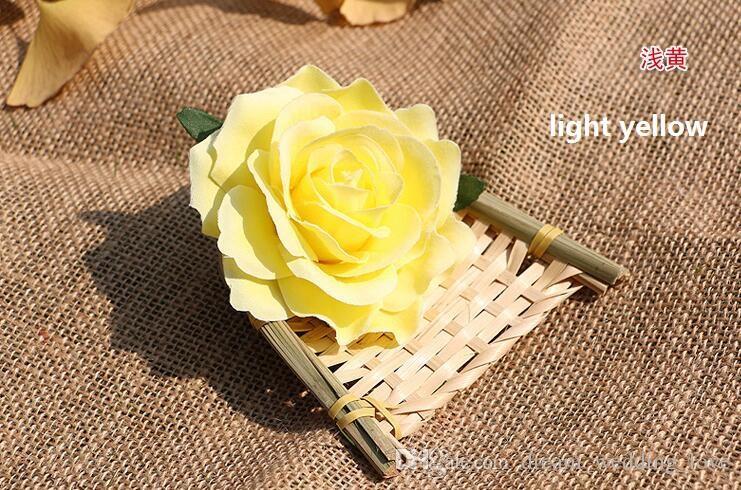 teste di rose fiori artificiali di plastica fiori finti testa di alta qualità fiori di seta decorazione di cerimonia nuziale parete spedizione gratuita WF008