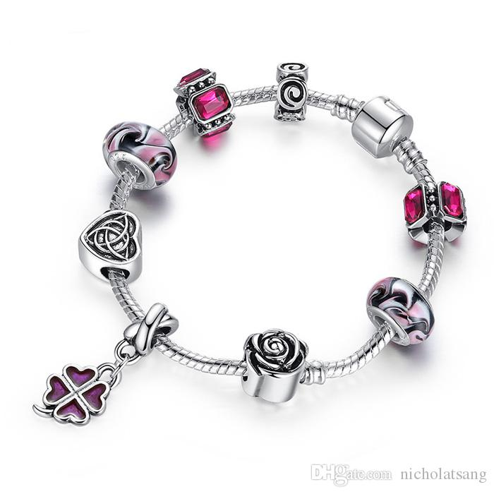 Mixed Styles HOT SELL European Bracelets 925 Silver Fish Charm fit Pandora Bracelets For Women Heart Charms Fashion Jewelry Wholesale