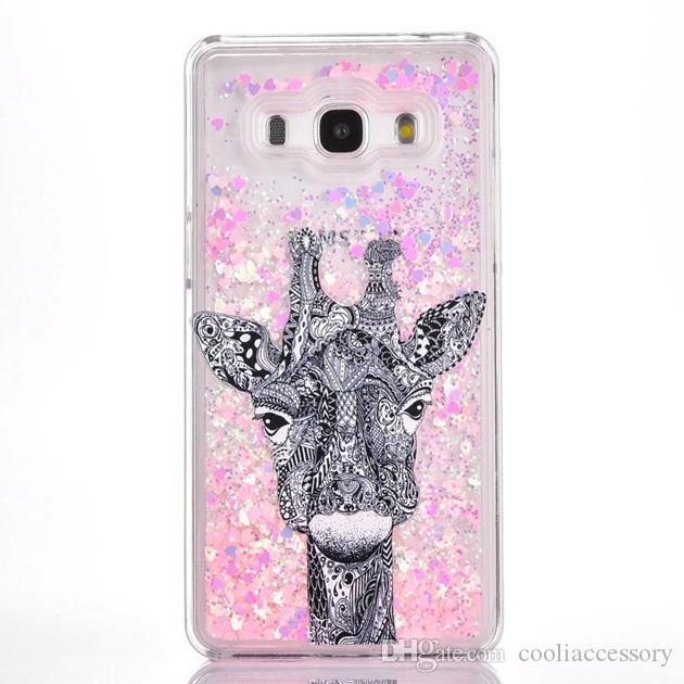 Quicksand Liquid Hard PC Case For Samsung Galaxy Grand Prime G530 G531H Cartoon Flower Clear Dynamic Glitter Deer Tree Girl Love Skin Cover