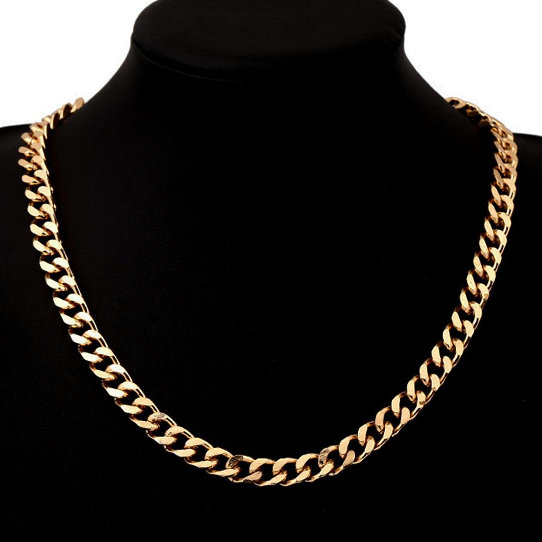 chai yellow men gold necklace link solid universal women chain mens s products cuban jewels