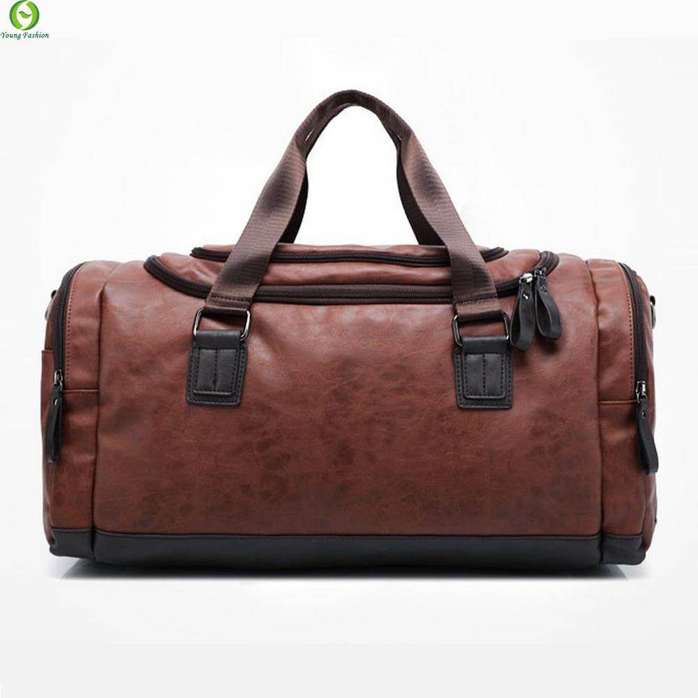 New Genuine Leather Travel Bag Men Duffel Bag Large Capacity Bags ...