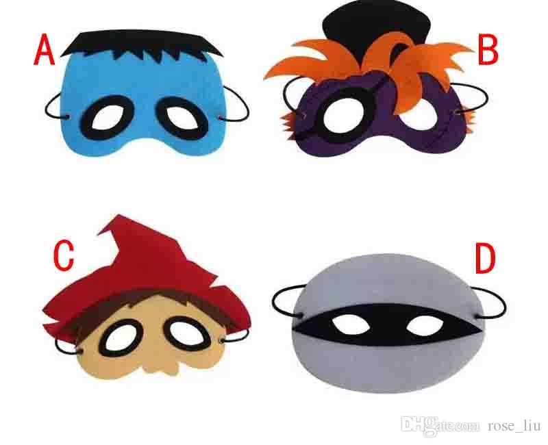Halloween mask cosplay Halloween Party masks Costumes for Kids mixed 4 design