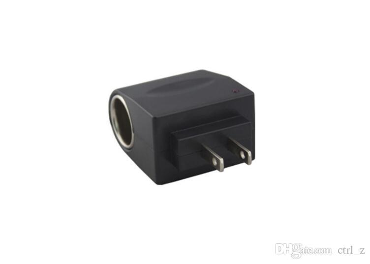 Conversor Adaptador de Isqueiro Do Carro de alta Qualidade 220 V de Parede de Energia AC Portátil Para DC 12 V Preto EUA eu Plug