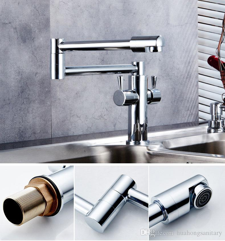 Best Contemporary Folding Faucet With Double Control Deck Mounted ...