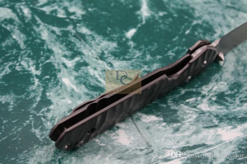 Chris Reeve Clássico Sebenza 21 Facas Dobráveis 440C Lixa Lâmina onda padrão de Aço Handle Survival Ferramenta Tático EDC Ao Ar Livre