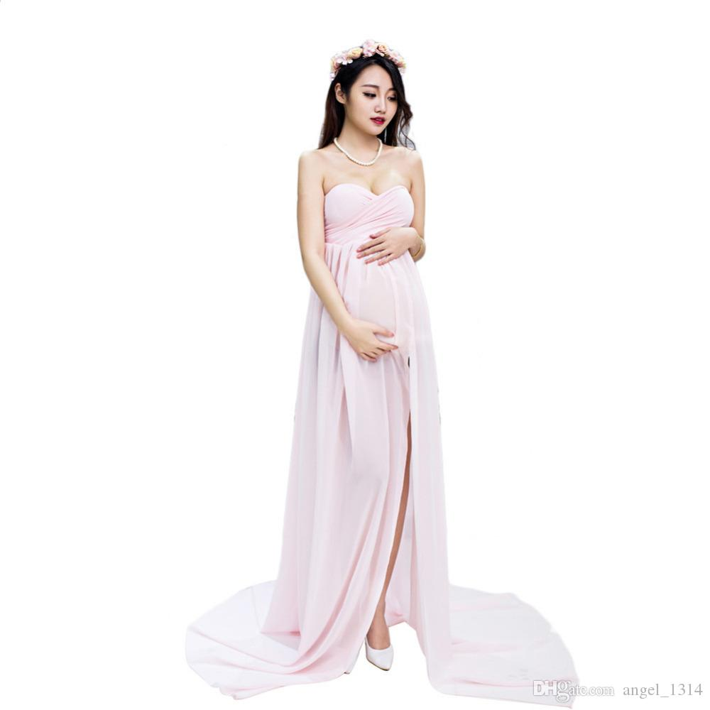 5c54686f17c2 2019 Pregnan Women Dress Maternity Photography Props Elegant Pregnancy  Clothes Dress Maternity Dresses For Photo Shoot Clothing From Angel_1314,  ...