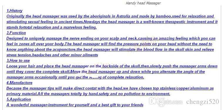 EMS глава шеи скальп оборудование стресс расслабиться ручной массажер здравоохранения Главная путешествия офис случайный цвет