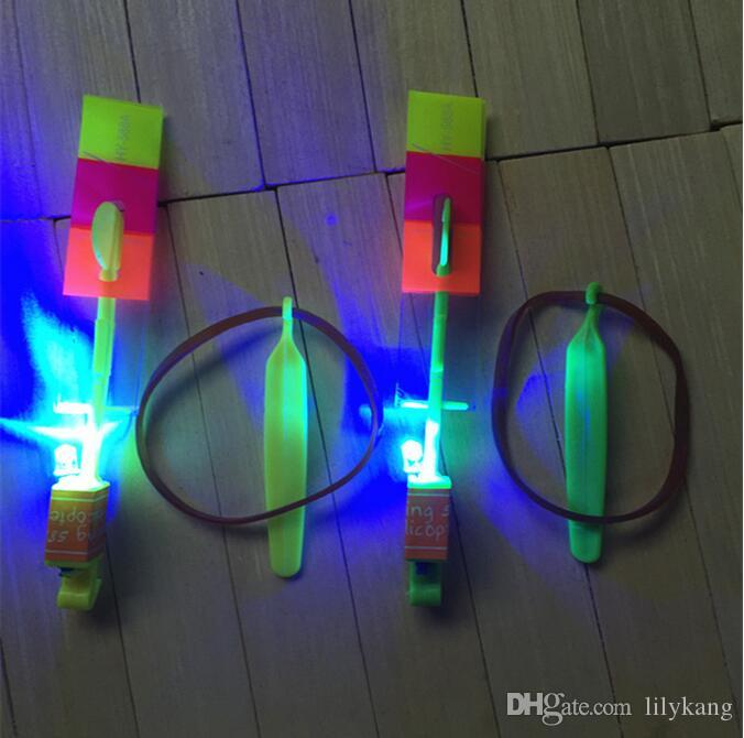 Novelty Children LED Toys Amazing LED Flying Arrow Helicopter for Sports Funny Slingshot birthday party supplies Kids flying toy Gift