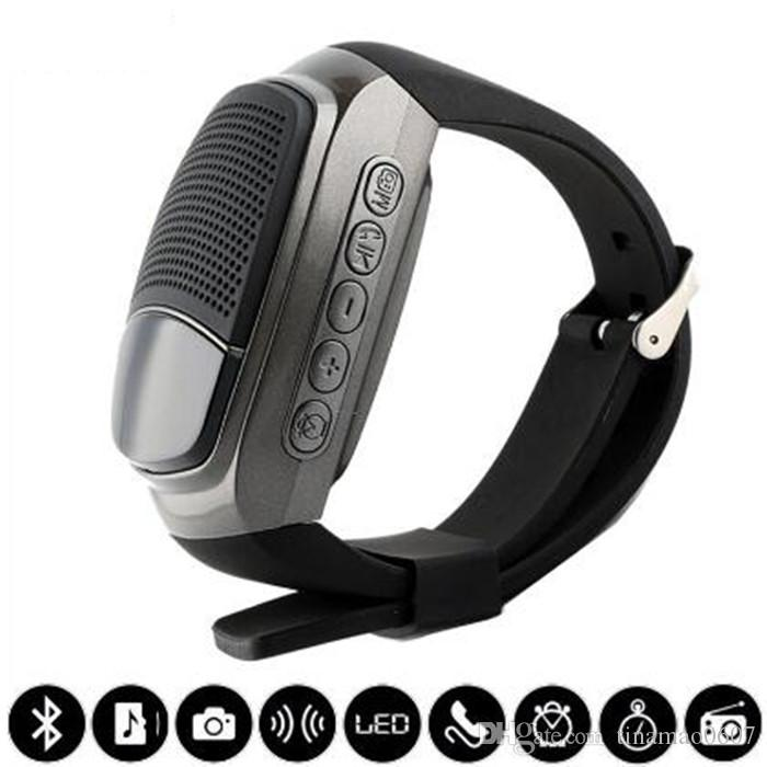 B90 Mini Bluetooth Speaker Smart Watch Sport Wireless Subwoofers Speakers With Display Screen Support TF FM Hands-free Call Self-timer