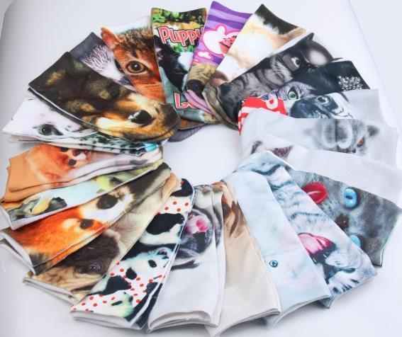 Marque nouvelle Femmes Low Cut Ankle Socks Coton 3D Imprimé Lady Filles Doux Cartoon Pantoufles Chaussette Cosplay costume 467 Modèles pour choisi cadeau de Noël