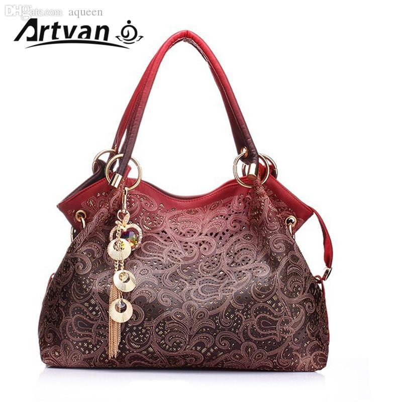 Wholesale Brand Designer Handbag Female PU Leather Hollow Out Bags Handbags  Color Gradient Tassel Bag Ladies Portable Shoulder Bag LH33 Overnight Bags  Bags ... ccb2479451569