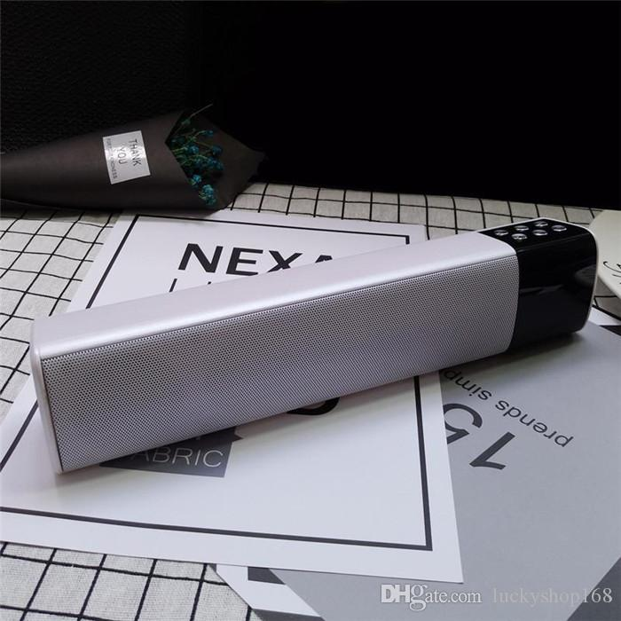 S2028 LCD Écran Numérique Affichage Long Cuboid Sans Fil Bluetooth Haut-Parleur Portable Stéréo Son TF USB Mp3 Lecteur de Musique En Gros Pas Cher Prix