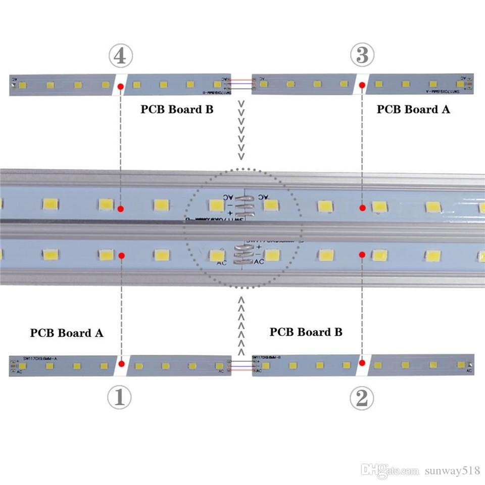 Stok yılında ABD + 4 ft 5 ft 6 ft 8ft LED Tüp Işık V şekli Entegre LED Tüpler 8 ft Cooler Kapı Dondurucu LED Aydınlatma