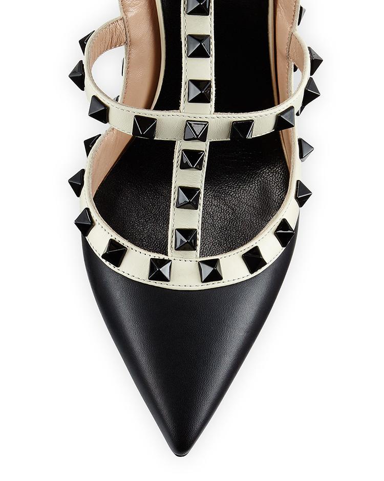 su misura * alta qualità! u569 34/40 rivetti a punta in vera pelle tacchi sandali v pompe designer di lusso 7.5 10 scarpe moda 10 cm