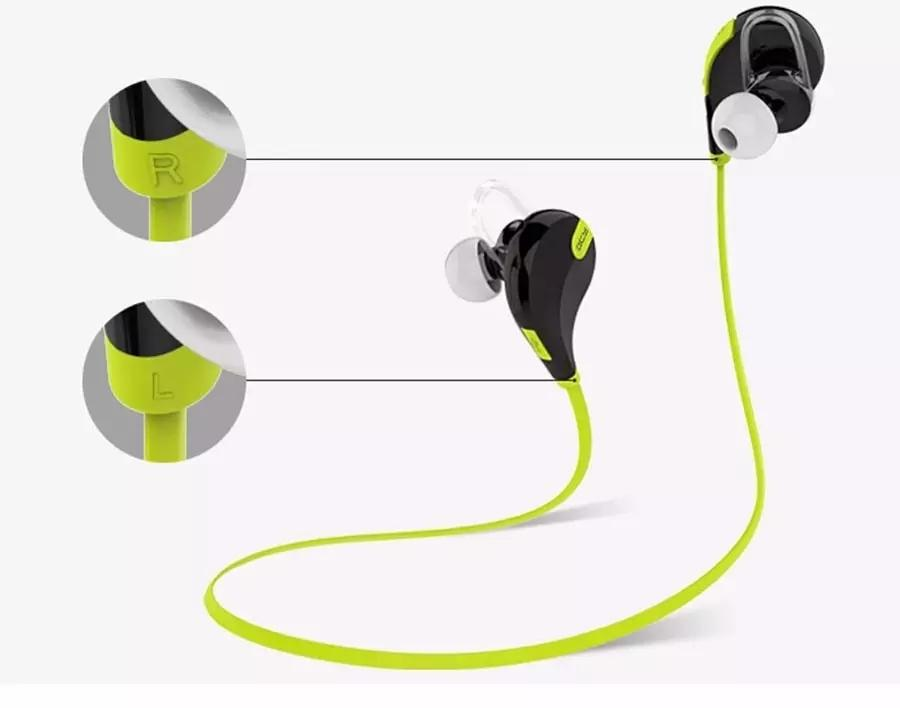 QY7 سماعات بلوتوث لاسلكية للرياضة مع ميكرفون لاجهزة ابل ايفون 5s 6 بلس لاجهزة سامسونج جالاكسي S4 S5 S6 موبايل OM-CA6