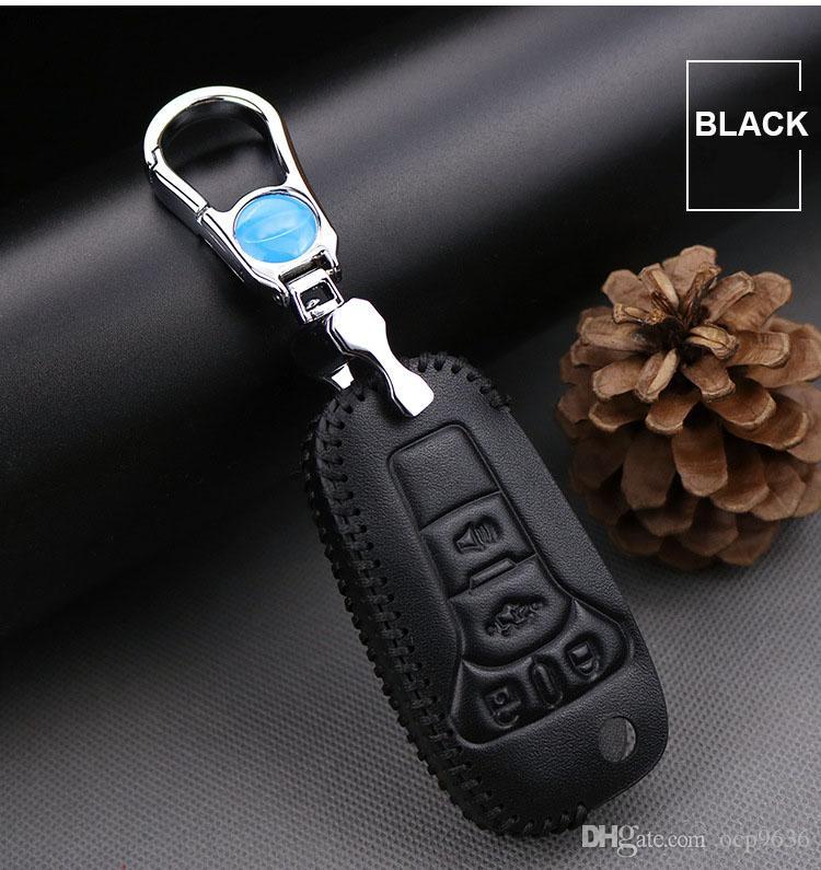 Высокое качество премиум кожаный дистанционный ключ держатель Fob чехол для FORD Focus / KUGA / Mondeo / Edge / Ecosport стайлинга автомобилей