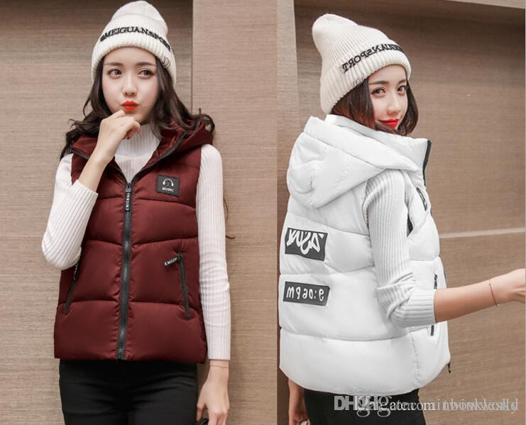 Wholesale New Arrival Winter Sleeveless Women S Hooded Shiny Vest