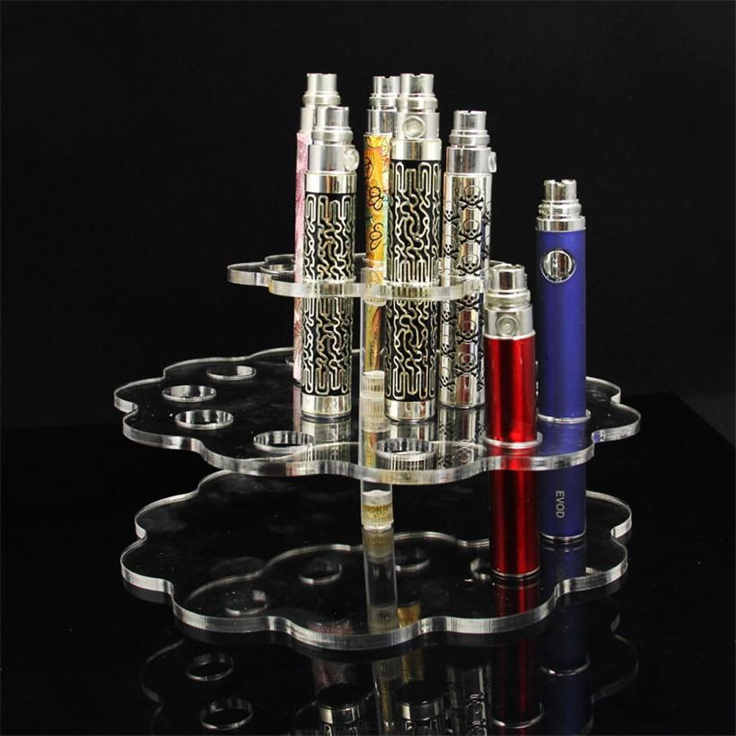 Acrylic Display Racks Stands For Ecig Store Ego T Batteries Atomizers Tanks EVOD E Cigarette Kits Vape Mods Holder Shelf Detachable Racks