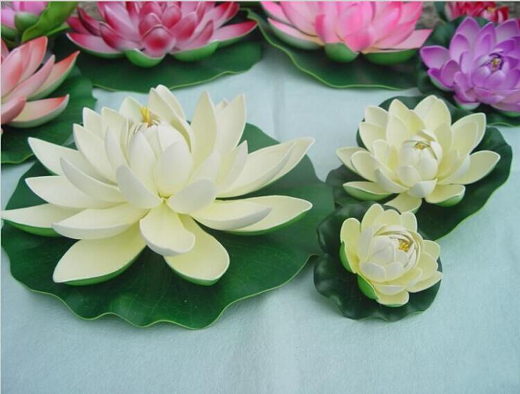 Online cheap cheap sale diameter 60cm huge artificial decorations online cheap cheap sale diameter 60cm huge artificial decorations lotus flower craft water pool fake eva flower for christmas ornament wedding party deco by mightylinksfo
